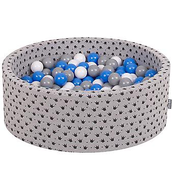 Kiddymoon Baby Ballpit With Balls 7Cm / 2.75In Certified Made In EU, Couronne