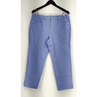 Isaac Mizrahi Live! Petite jeans 24/7 farvet denim Ankel længde blå