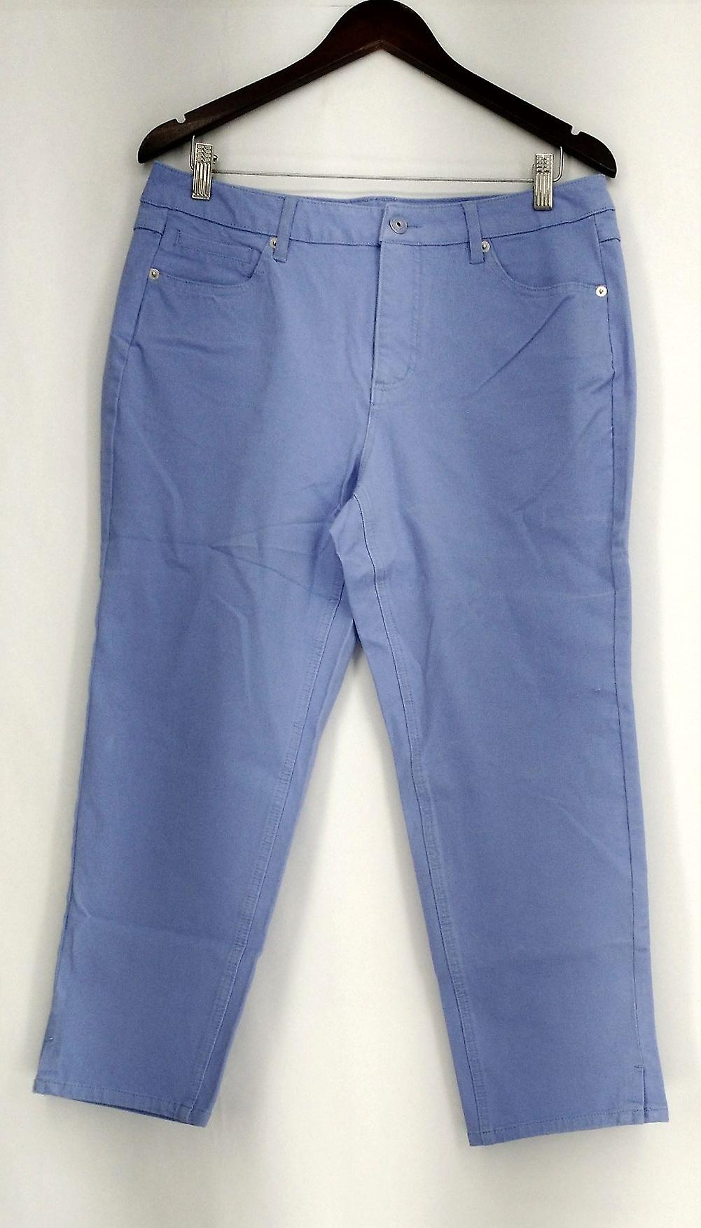 Isaac Mizrahi Live! Petite Jeans 24/7 Colored Denim Ankle Length Blue