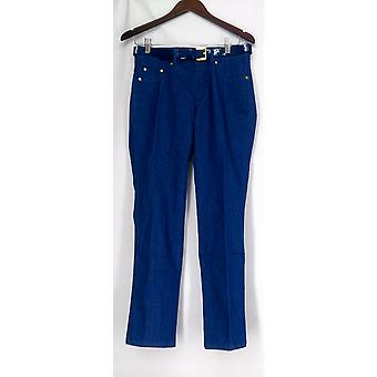 Iman Jeans Perfect Fit False Front Three Pocket Indigo Blue Womens 363-178