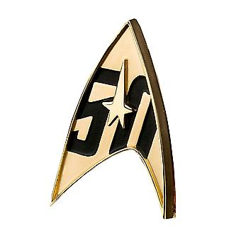 Badge di replica per il 50o anniversario di Star Trek
