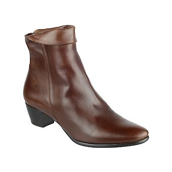 Riva Womens Armadillo Leather Boot Brown