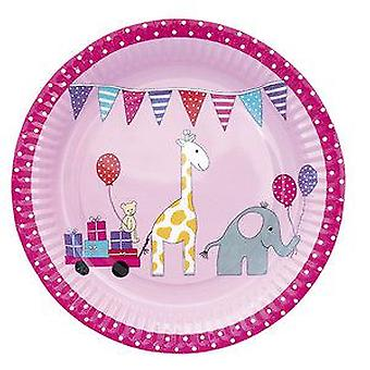 Jabadabado Birthday Pink Plate (Babies and Children , Costumes)