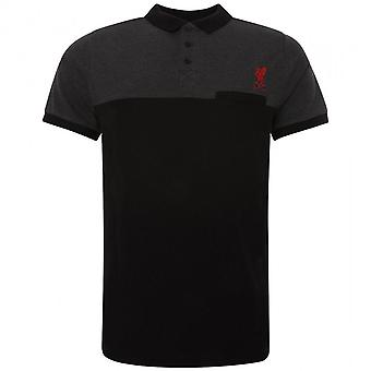 Liverpool FC Mens Block Polo Shirt