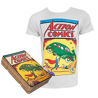 O Superman Action Comics #1 Box luz cinza t-Shirt