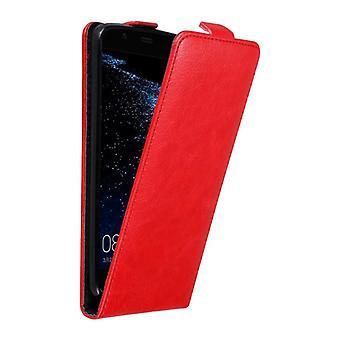 Cadorabo Hülle für Huawei P10 PLUS Case Cover - Handyhülle im Flip Design mit Magnetverschluss - Case Cover Schutzhülle Etui Tasche Book Klapp Style