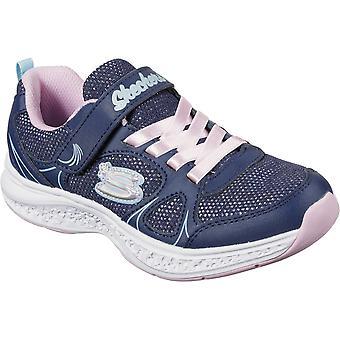 Skechers Girls Star Speeder LightweightTrainer Slip On Shoes