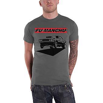 Fu Manchu T Shirt Muscles Band Logo new Official Mens Grey
