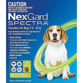 Nexgard Spectra Medium 7.5 - 15 kg (16 - 33 lbs) - 6 pack
