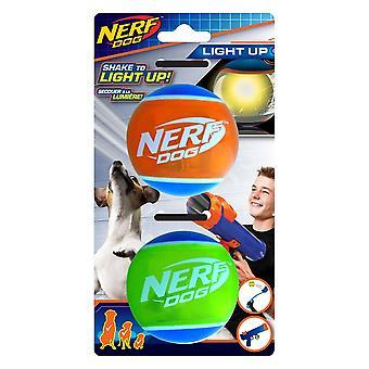 Nerf Dog LED Tennis Ball - 2 Pack