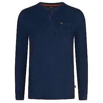 Tier Washington Langarm T-Shirt in Indigo blau