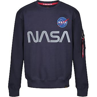 Alpha Industries NASA Reflective Sweatshirt Navy 35