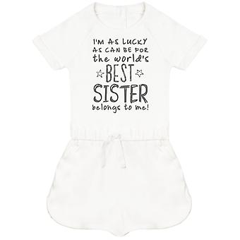 I'm As Lucky As Can Be Best Sister belongs to me! Baby Playsuit
