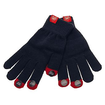 Arsenal FC Adults Unisex Knitted Touch Screen Gloves