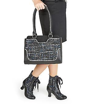 Ruby shoo kvinnor ' s Minnie spetsar upp högklackade stövlar & matchande Tunis väska