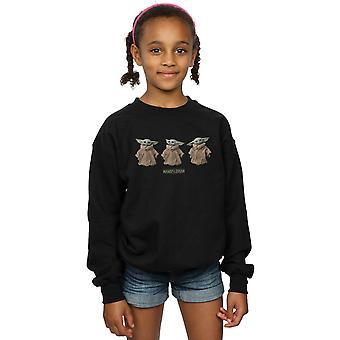 Star Wars Girls The Mandalorian The Child Poses Sweatshirt