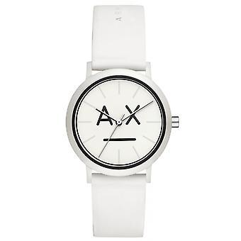 Armani Exchange AX5557 Reloj - Pulsera de caja blanca de silicona