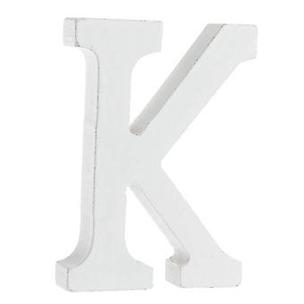 White Large Capital Alphabet Letters-K