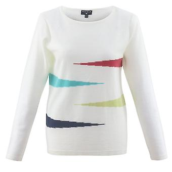 MARBLE Marble White Sweater 5675