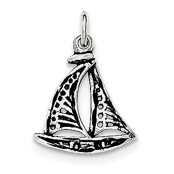 925 Sterling Silver Sail Boat Pendant Necklace Jewelry Gifts for Women