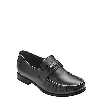 Chums Mens Leather Wide Fit Slip On Shoe