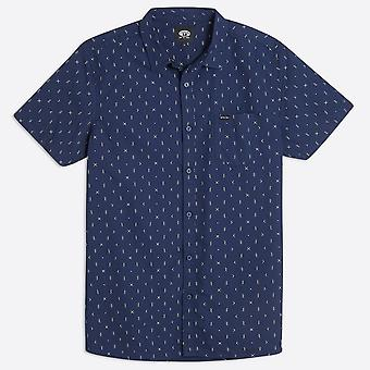 Animal clothing men's local short sleeve shirt navy all over print