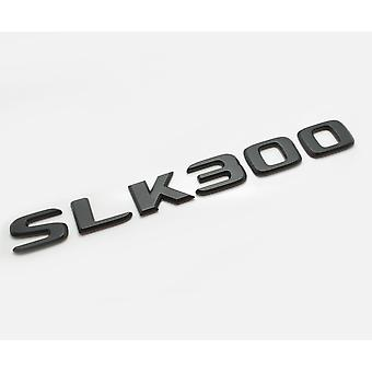 Matt Black SLK300 Flat Mercedes Benz Car Model Rear Boot Number Letter Sticker Decal Badge Emblem For SLK Class AMG R170 R171 R172