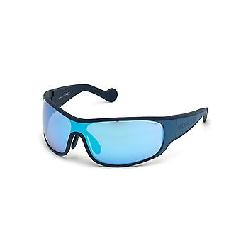 Moncler ML 0129 92XBlue Other/Blue Mirror Sunglasses
