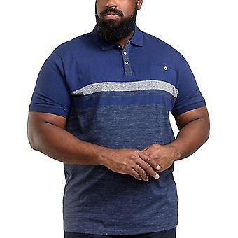 Duke D555 Mens Lawson King Size Big Tall Short Sleeve Polo Shirt  - Navy
