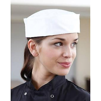 Dennys Ladies/Womens White Skull Cap / Chefswear Caps & Hats