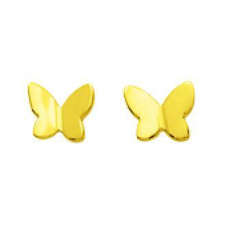 Ohrringe Schmetterling Schraube gold 375/1000 gelb (9K)