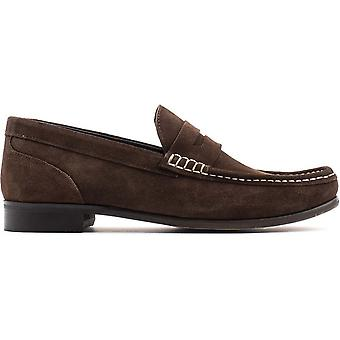 Base London Mens Cassio Suede Slip On Loafer Shoes