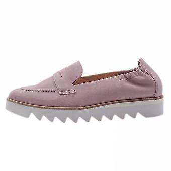 H'g 7-10 0802 Edgy Slip On Loafer Shoes In Mauve