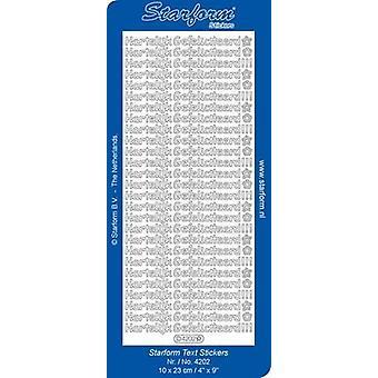 Starform Stickers Text NL: Hartelijk Gefeliciteerd 14 (10 Sheets) - Silver  - 4202.002 - 10X23CM