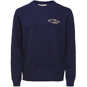 Universal Works Loopback Embroidered Logo Sweatshirt