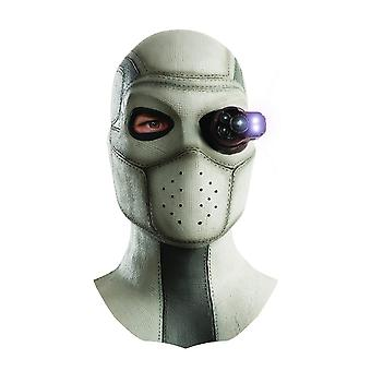 Suicide Squad Mens Deadshot Overhead Latex Lighted Mask