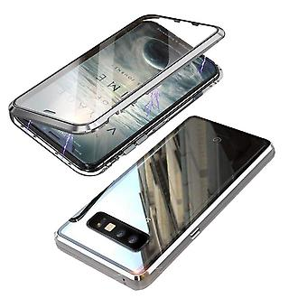 Magnetic shell for Samsung Galaxy S10 with screen protection - silver