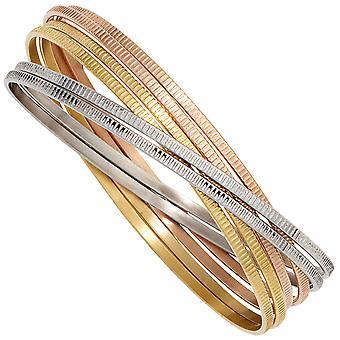 Bangle-široký 6-řadový nerezavějící ocel Tricolor Tricolor tricolor