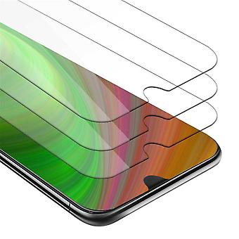 Cadorabo 3x Tank Foil for HTC Desire 19+ - Protective Film in KRISTALL KLAR - 3 Pack Tempered Display Protective Glass in 9H Hardness with 3D Touch Compatibility