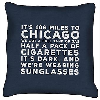 Blues Brothers Sunglasses Quote Cushion