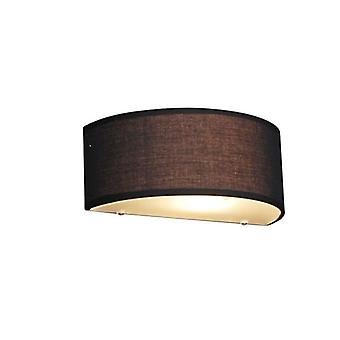 QAZQA Country Wall Lamp Half Round Black - Drum