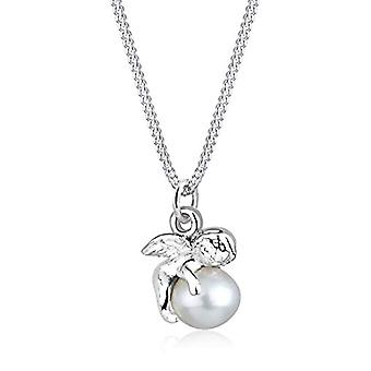 Elli - Collier with pendant - pattern: angel on pearl d'fresh water - silver Sterling 925 - color: silver - 45 cm - Silver - color: silver - cod. 0109522412_45