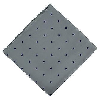 Michelsons London fläckig näsduk - ljus grå/Marinblå