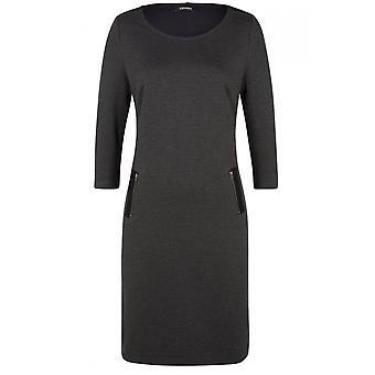Olsen Dark Grey Jersey Dress