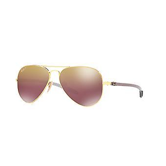 Ray-Ban RB8317CH 001/6B Błyszczące złoto/fioletowe okulary przeciwsłoneczne z polaryzacją lustrzaną