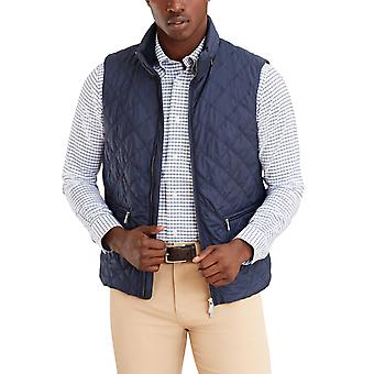 Brooks Brothers Men's chaqueta acolchada de diamantes sin mangas