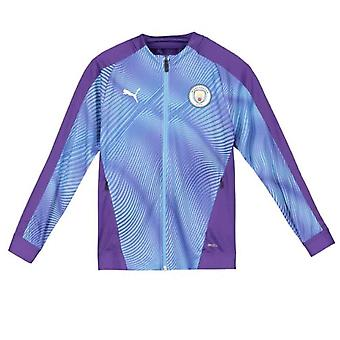 2019-2020 Manchester City Puma Stadium Jacket (Purple) - Kids