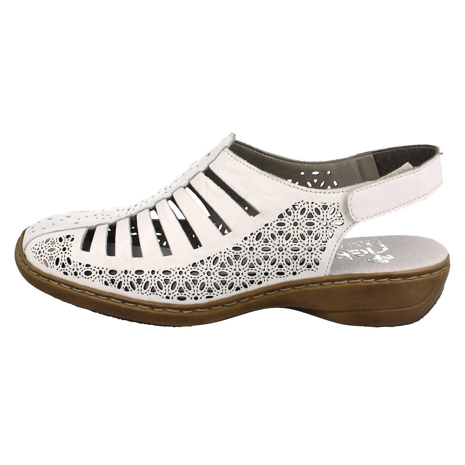 Ladies Rieker Shoes With Punched Out Detailing 41355