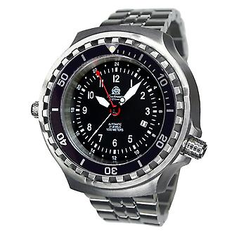 Tauchmeister T0308M automatic diving watch with steel band XXL