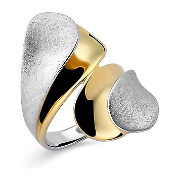 Orphelia Silver 925 Ring  Gold & Rhodium plated